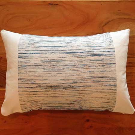 coussin décoratif modèle source - cuir blanc