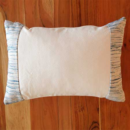 Style Cecile decorative leather pillow